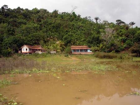 settlement: small settlement deep in the amazon                                Stock Photo