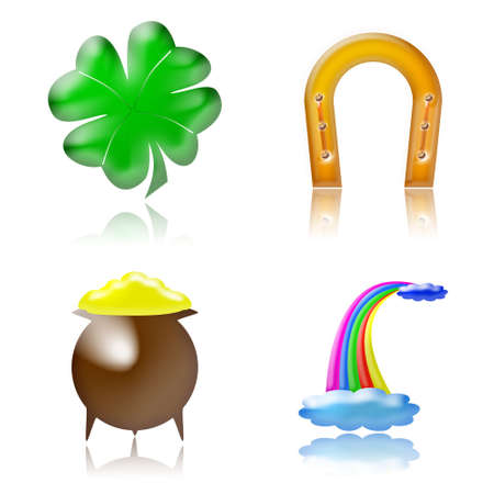 glossy good luck charm icons photo