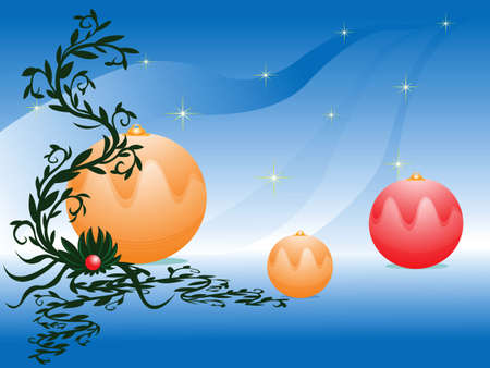 shinning: decoration ornaments and plant