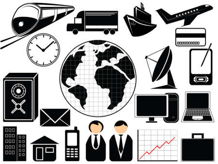 business and transport icons Vector