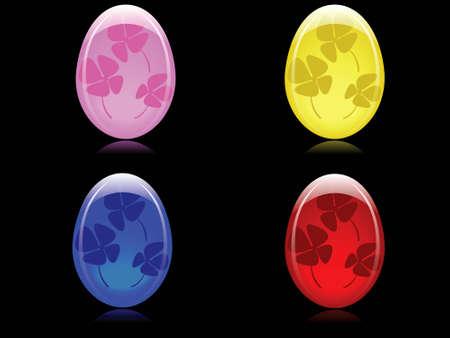 fourleaved: glossy easter eggs