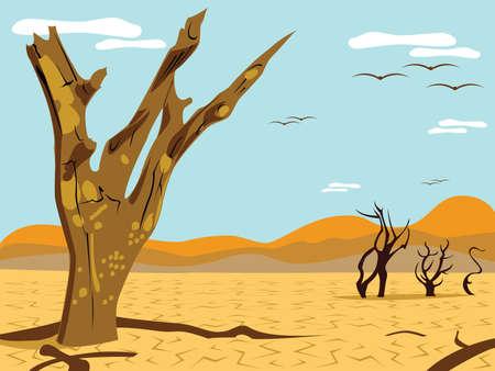 desert tree landscape Stock Vector - 3187312