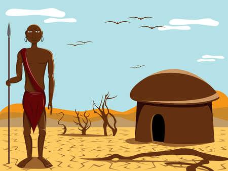 the tribe: la gente de �frica  Vectores