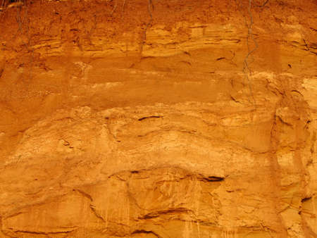 erosion: detail of a clay pattern after excavation and erosion