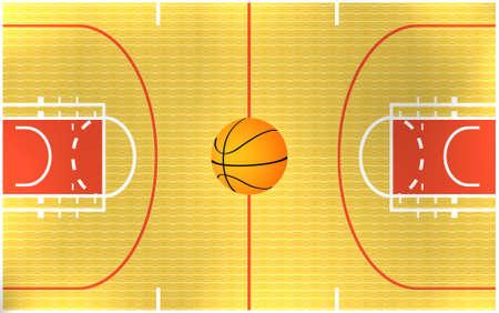 ilustración de un campo de baloncesto Foto de archivo - 4094732