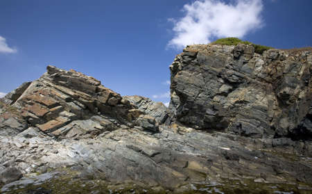 Rocky coastline of Sinemorets, Bulgaria, Black Sea Stock Photo