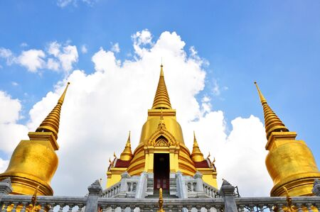 gold Buddhist temple of Thailand photo