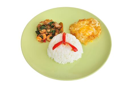 Thai food, Pork, shrimp chilli paste  photo