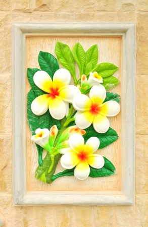 flower stucco , thai style on the Wall Stock Photo - 14558703
