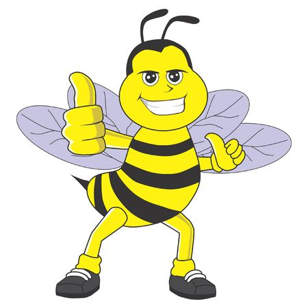 bee give thumbs up