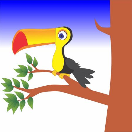 Bird perched on a tree