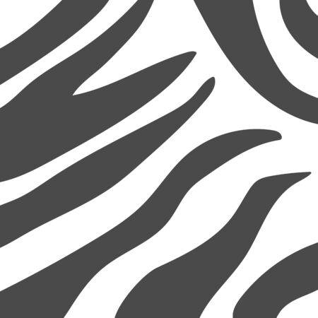 Zebra stripes background. Abstract monochrome animal print. Can be used as fabric texrure or wallpaper. Black and White vector illustration
