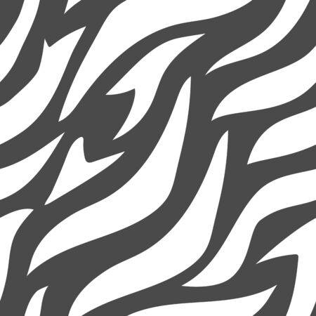 Geometric zebra stripes background. Abstract Black and White animal print. Can be used as fabric texrure or wallpaper. Monochrome vector illustration Stock Illustratie