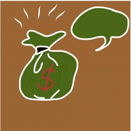 liabilities: Illustration of bag full of golden coin