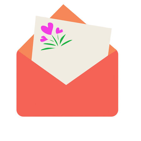 objected: Envelope with blank letter