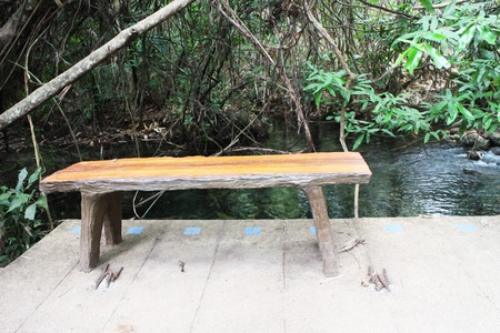 spacing: Bench chair in the park