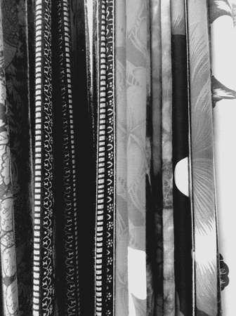 clothing: Textile cloth white and black Stock Photo