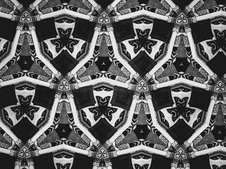 Textile cloth black and white Stock Photo