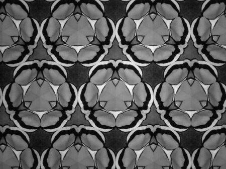 black: Background black and white