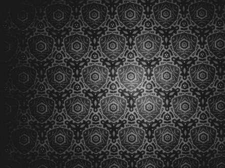 black: Pattern black and white