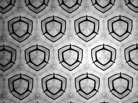 black: Pattern cloth black and white