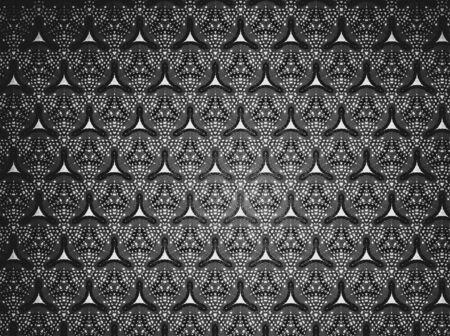white: Textile cloth black and white Stock Photo