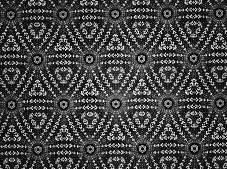 cloth: Textile cloth black and white Stock Photo
