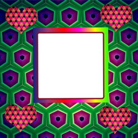 colorful: Frame pattern colorful Stock Photo