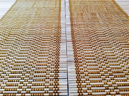backdrop: Pattern of bamboo placemat for background