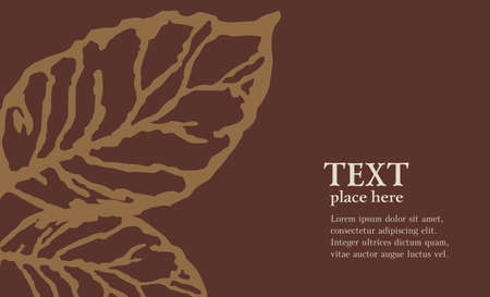 tobacco: Tobacco leaf  Vector abstract background