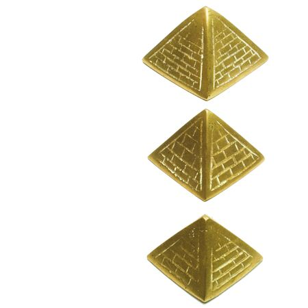 nuance: three pyramids in a simmetrical composition Stock Photo
