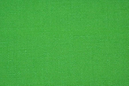 texture of green linen material as background
