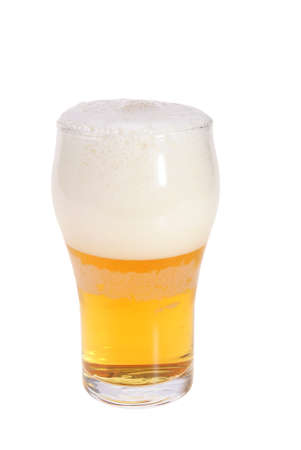 glass full of beer and hop isolated on white background Stock Photo - 4193491