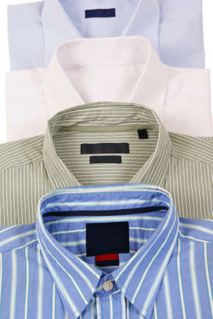 colourfull mens shirts  isolated on white background Stock Photo