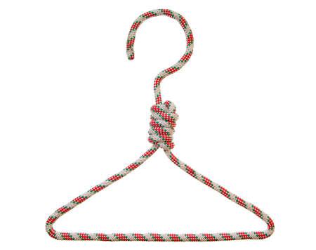 hanger made of string on white background Stock Photo - 5453623