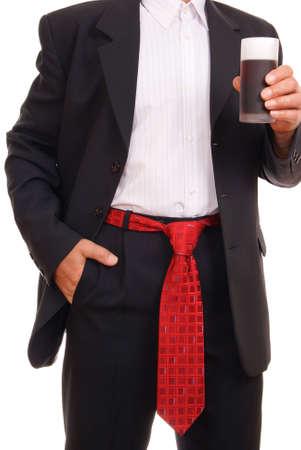 distinctive: elegant man with ties on white background