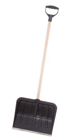 new snow shovel isolated on white background Stock Photo