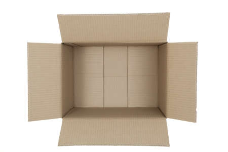 downwards: open box carton - made  from  photo downwards