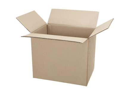 open,empty box carton on white background Stock Photo - 10919385