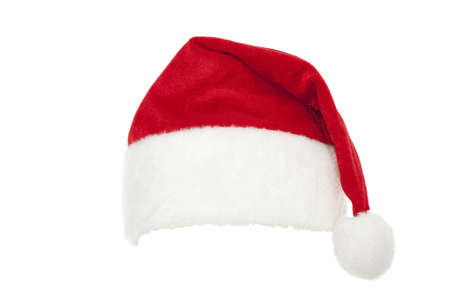 red cap Santa Claus on white background