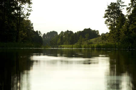 masuria: Masuria  scenery summer with calmly flow water