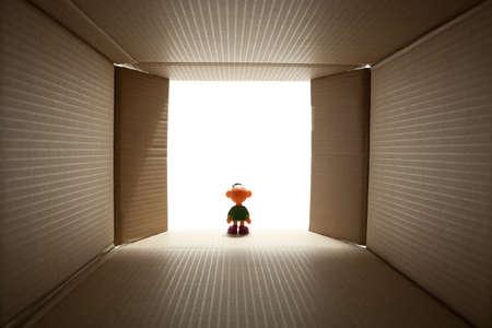 open box carton - made from photo inside Stock Photo - 11890696