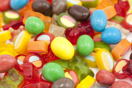 A full background of brightly colored candy Stock Photo - 11890702