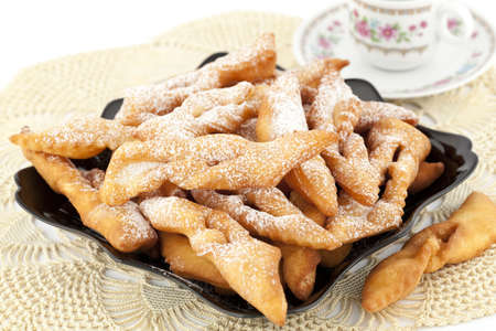 thursday: fresh and warm pastry straws as  background