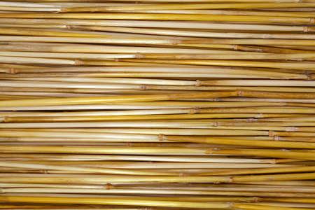arranged: a long dry straw arranged in stripes