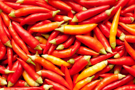 piquant: fresh piquant red paprika as background Stock Photo