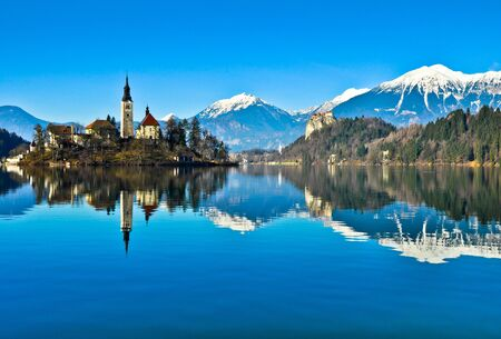 Lake Bled Фото со стока - 18502847