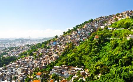 slum: Slum in Rio de Janeiro Stock Photo