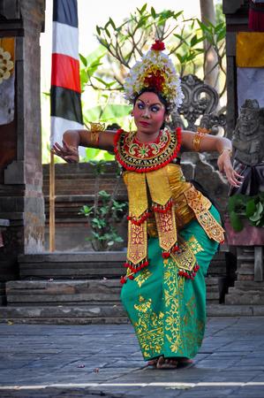 UBUD, BALI, INDONESIA - OCTOBER 24: Barong Dance show, the traditional balinese performance on October 24, 2012 in Ubud, Bali, Indonesia.