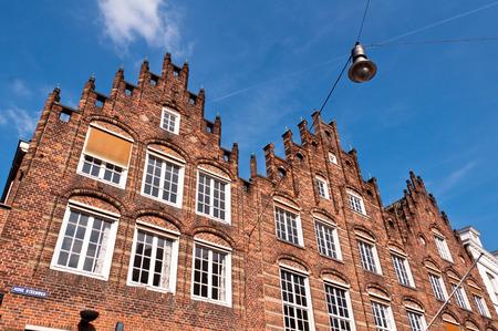 den: Traditional Dutch architecture building facade in Den Bosch, Netherlands